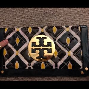 Tory Burch large colorful clutch